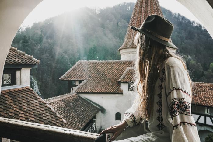 Christine Neder auf Burg Brahn