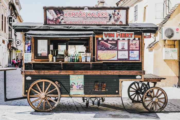 Delikatessenwagen in Kronstadt