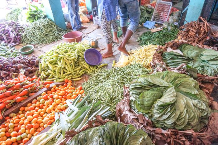 Auf dem Markt in Trinco