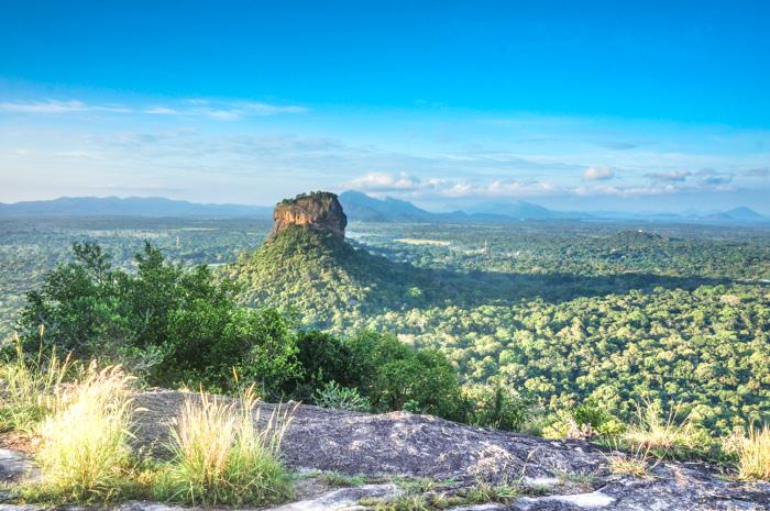 Blick auf Sigiriya Fels