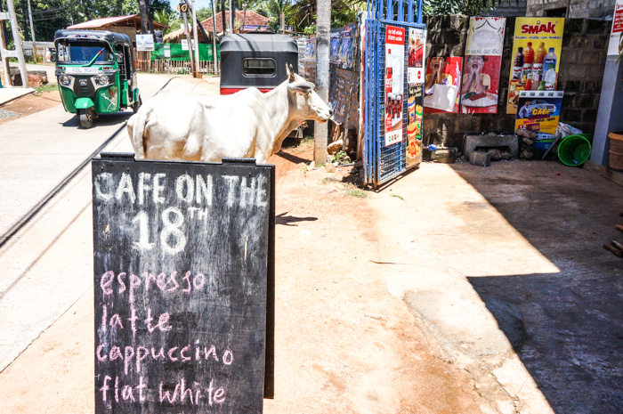 Café on the 18th in Sri Lanka