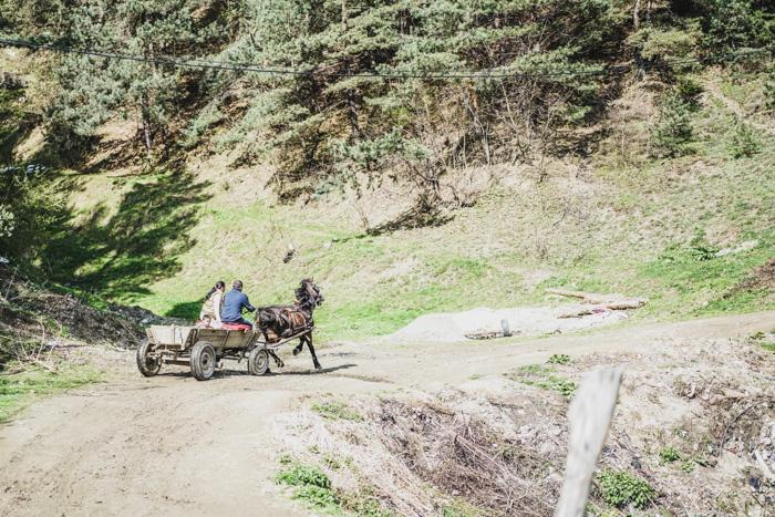 Pferdekutsche in Rumänien