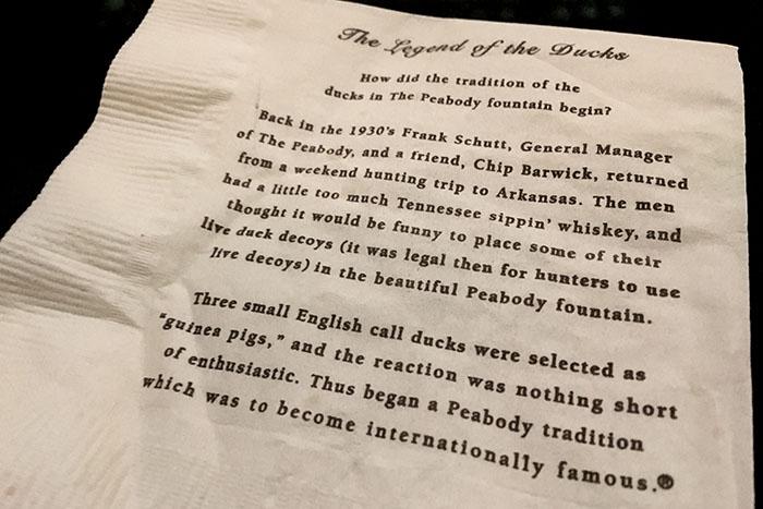 Die Geschichte der Peabody Ducks