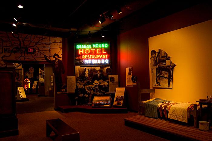 Im Rock'n'Soul Museum in Memphis