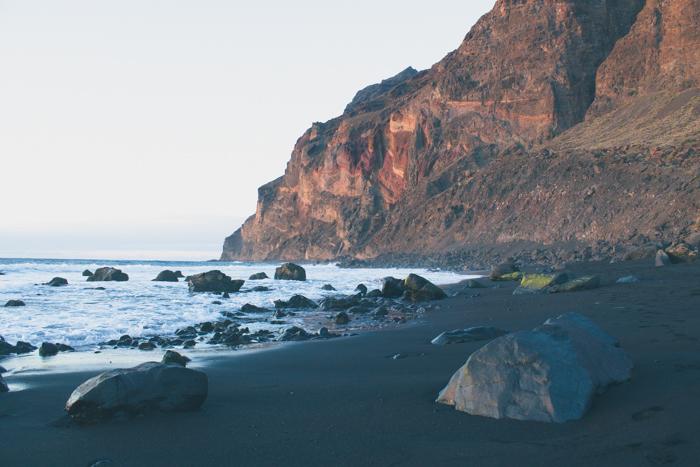 Sonnenuntergang auf den Kanareninsel La Gomera.