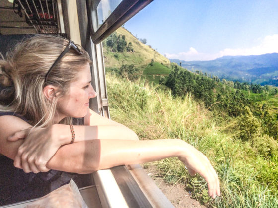 Zugfahrt Sri Lanka Backpacking