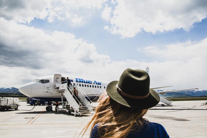 Rumänien Fotos - Flughafen mit Blue Air