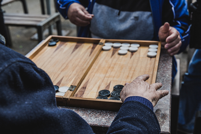 Backgammon in Rumaenien