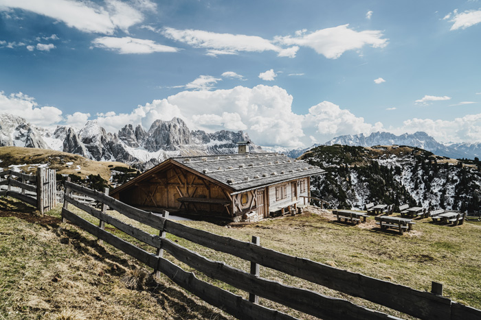 Berghütte im Schlerngebiet