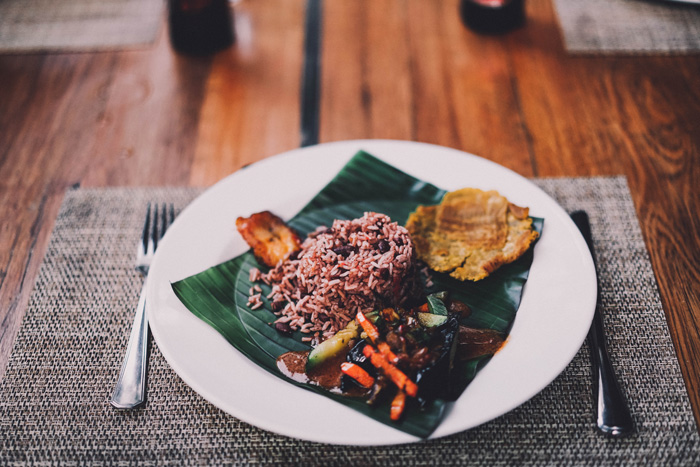 Bohnen und Reis
