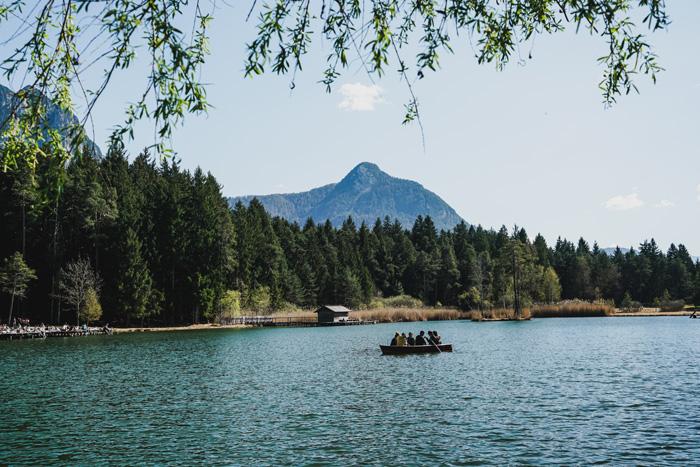 Bootfahren am Völser Weiher