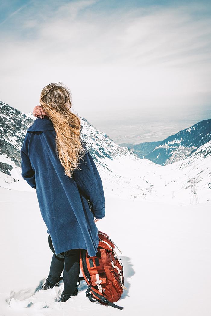 Christine Neder am Bulea Gletschersee