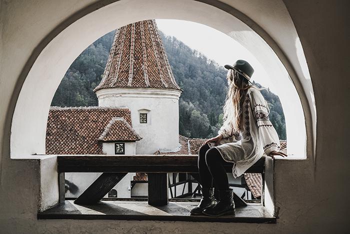 Christine Neder auf Schloss Bran