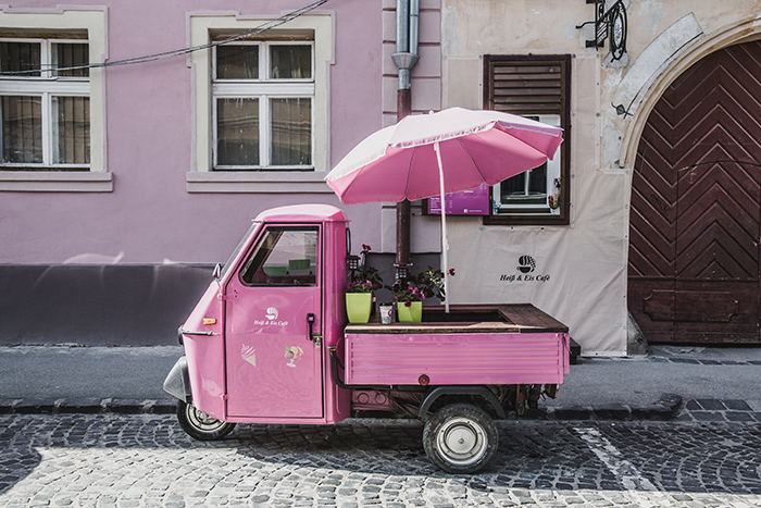 Eiswagen in Sibiu