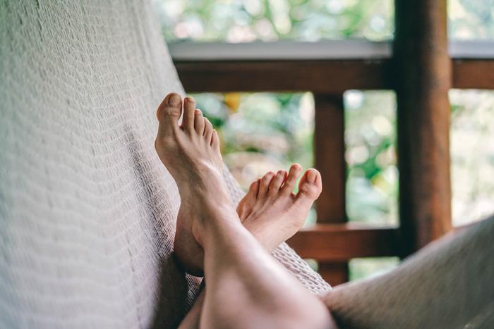 Füße Hängematte