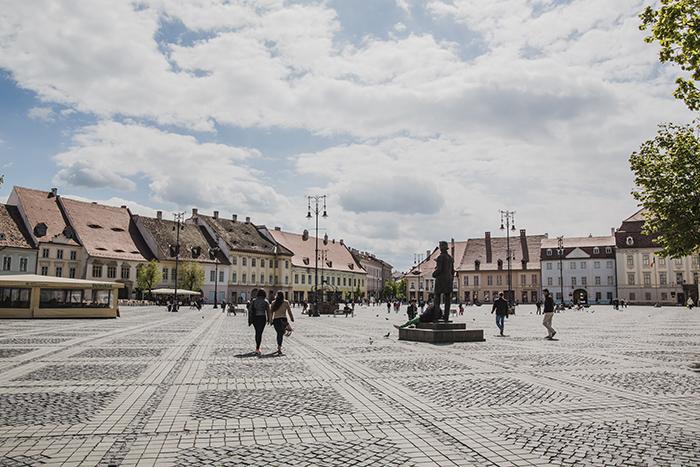 Grosser Platz in Hermannstadt