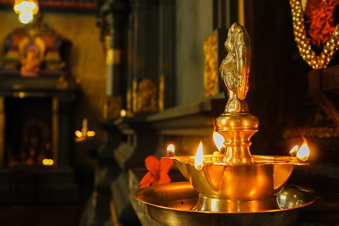 Hindu-Tempel in der Stadt Victoria auf den Seychellen