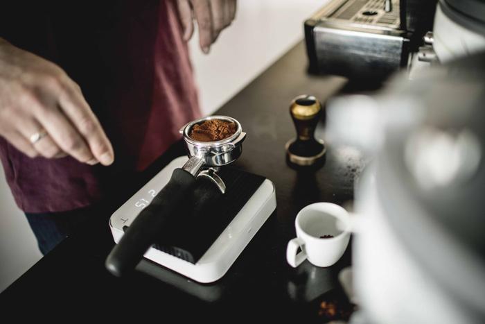 Kaffee wiegen