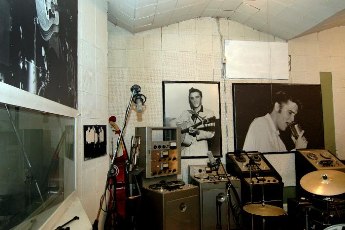 Aufnahmeraum des Sun Studio in Memphis