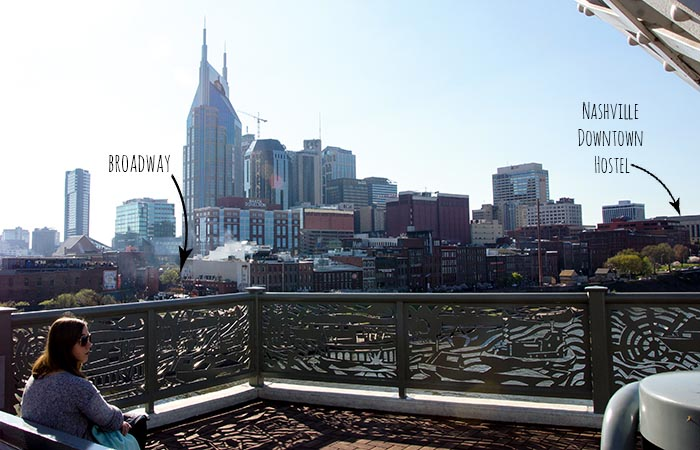 Nashville Downtown Hostel Location