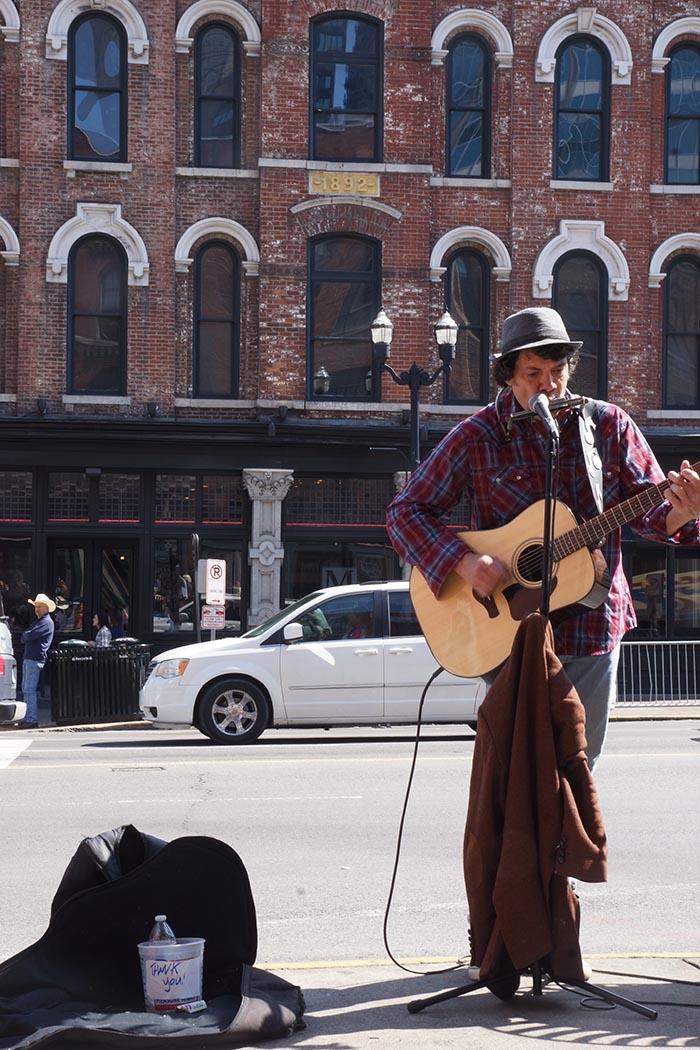 Strassenmusiker in Nashville