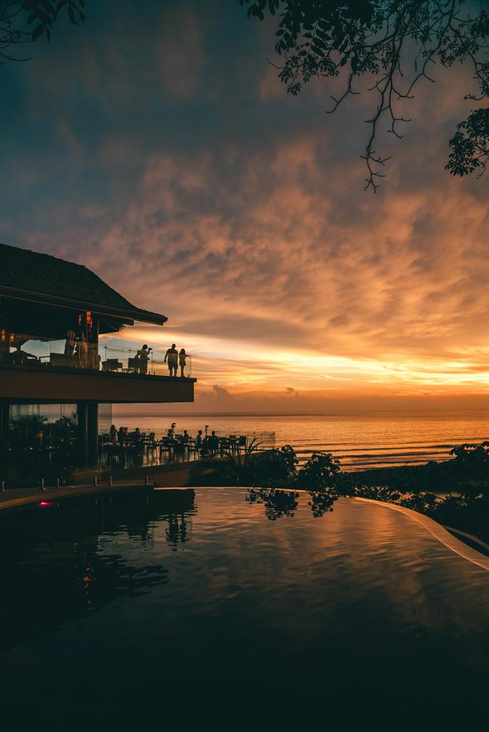 Pool Sonnenuntergang