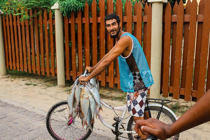 Frischer Fisch auf den Seychellen
