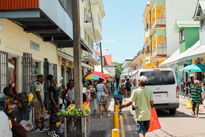 Die Stadt Victoria auf den Seychellen