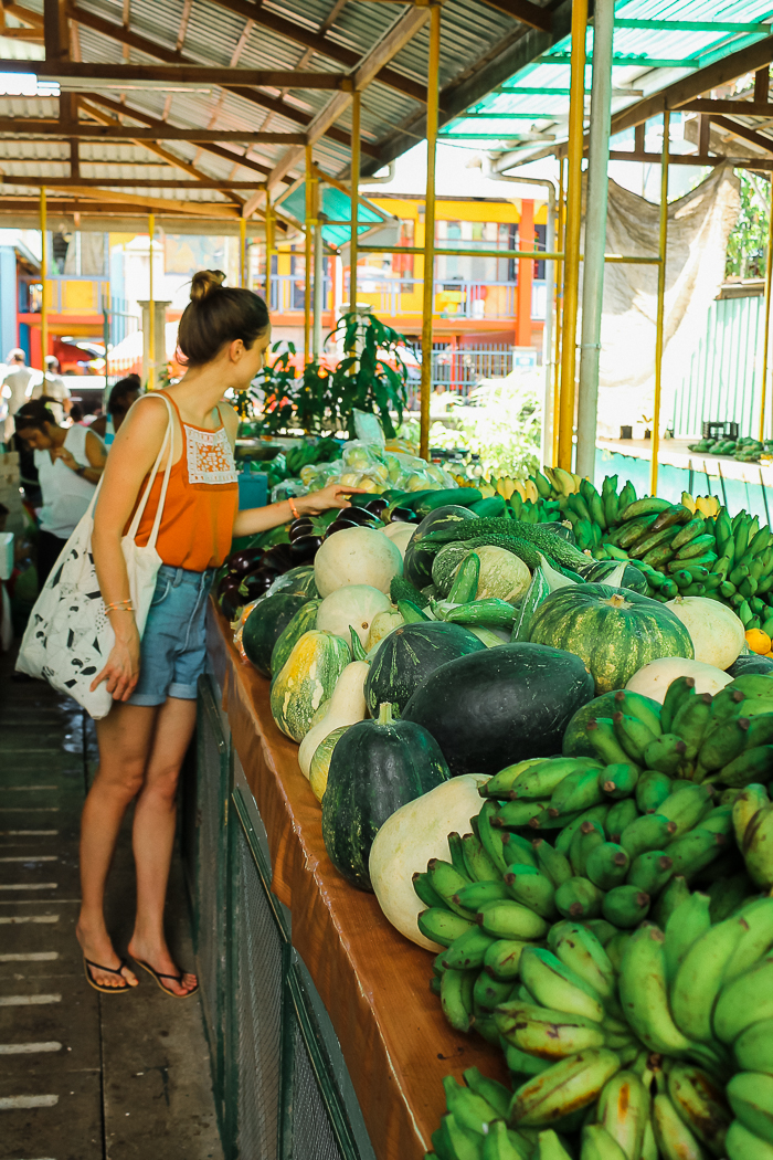 Lebensmittel Markt Seychellen
