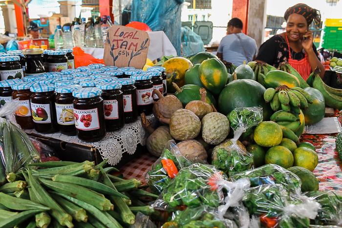 Sir Selwyn Selwyn-Clarke Market in der Stadt Victoria auf der Hauptinsel Mahé