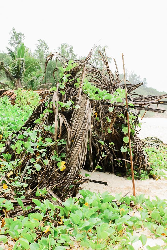 Sonnenschirm auf den Seychellen