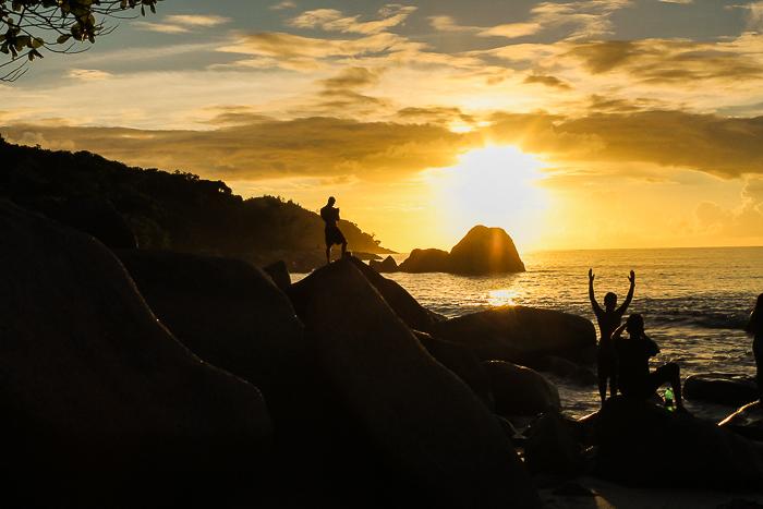 Sonnenuntergang auf der Insel Praslin