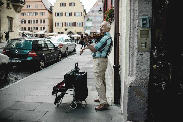 Straßenmusiker Rothenburg
