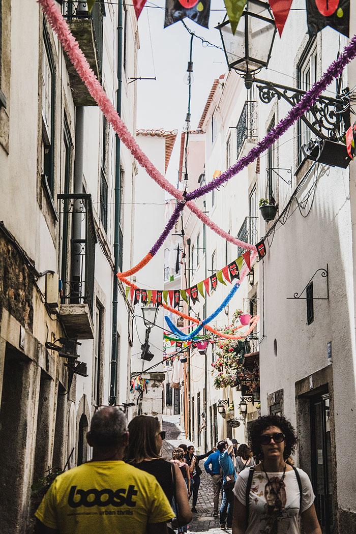 Alfama Viertel Lissabon