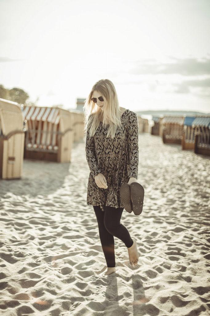 Am Strand Pause machen