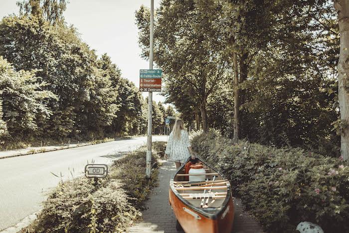 Kanu fahren an der Ostsee