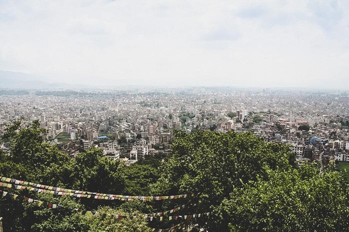 Aussicht Kathmandu Nepal
