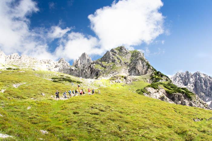 Bergsport am Wilden Kaiser Aufstieg Gruttenhütte