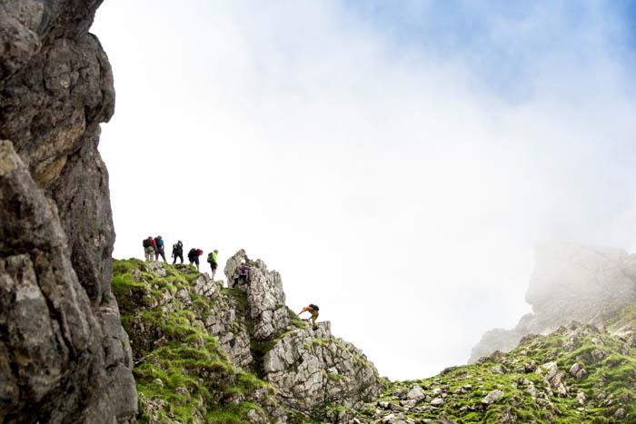 Bergsport am Wilden Kaiser Gruttenkopf