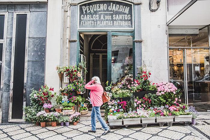 Blumenladen in Lissabon