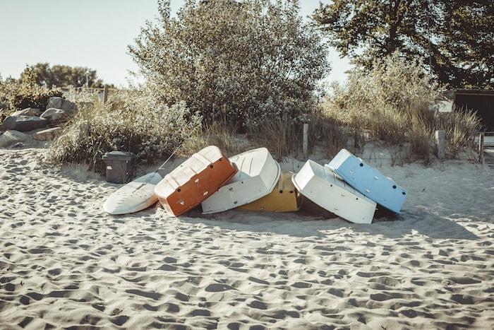 Boote in Pelzerhaken am Strand