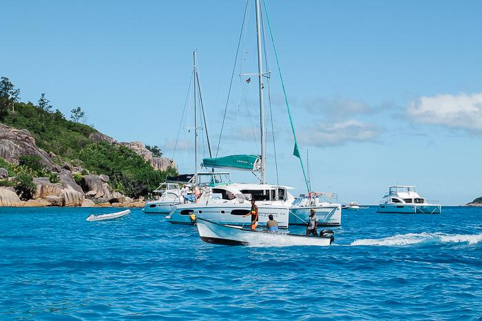 Boote auf den Seychellen