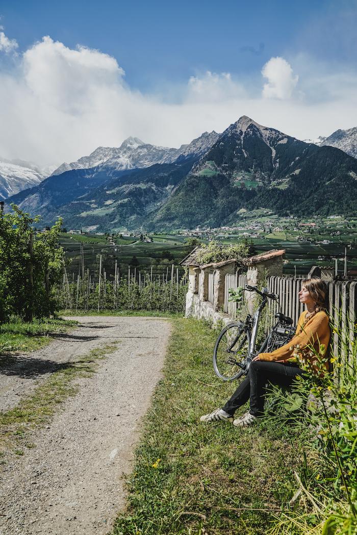 Christine Neder Radfahren Meraner Land