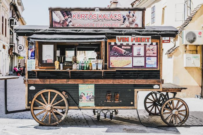 Delikatessenwagen in Rumänien