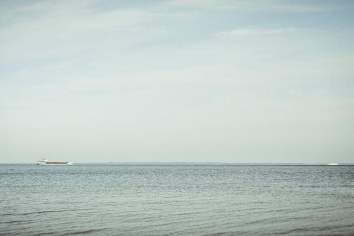 Die Ostsee mit Dampfern