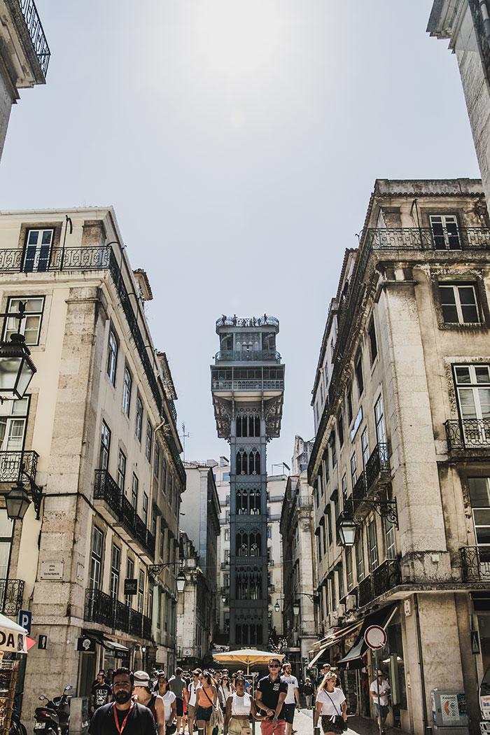 Elvador de Santa Justa Lissabon