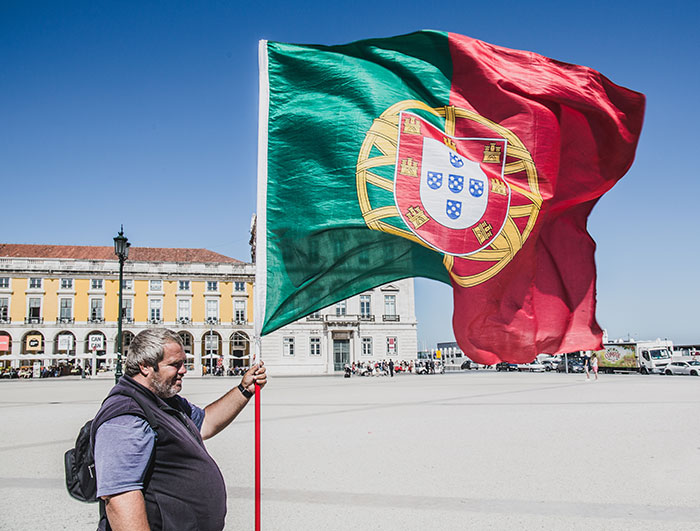 Flagge in Portugal