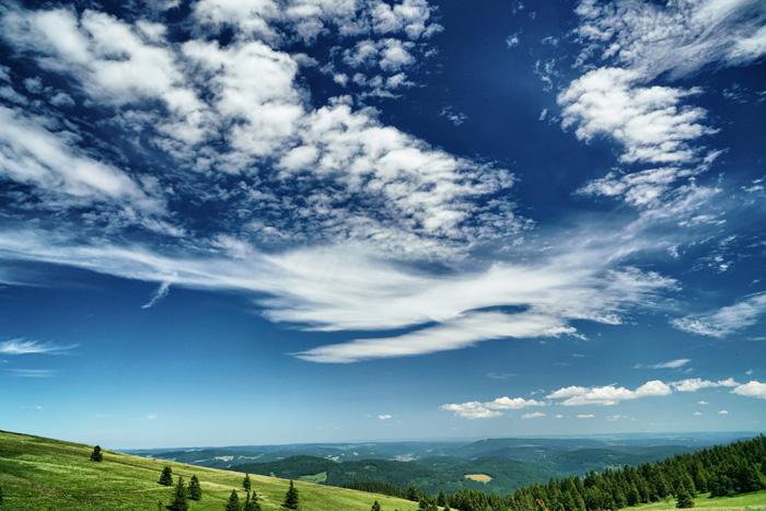 Himmel über dem Hochschwarzwald