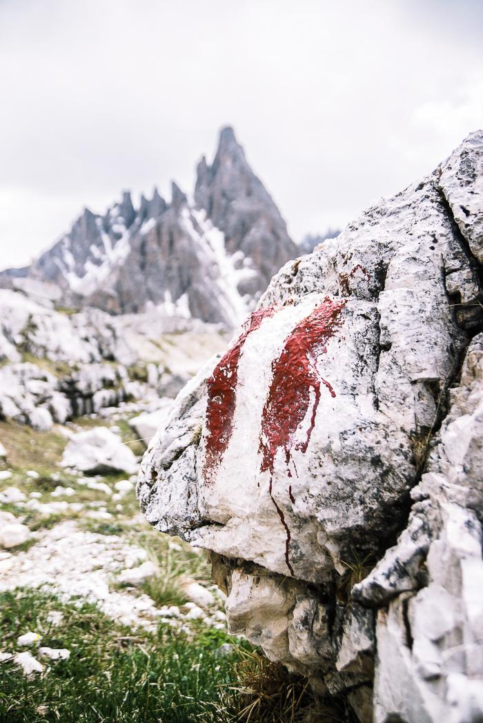Dolomitenregion Drei Zinnen - Wandermarkierung