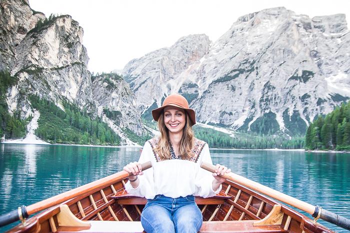Dolomitenregion Drei Zinnen - Boot fahren